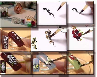 Рисунки на ногтях для начинающих в